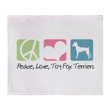 Peace, Love, Toy Fox Terriers Throw Blanket