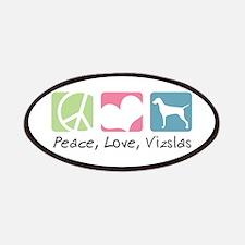Peace, Love, Vizslas Patches