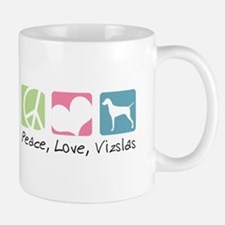 Peace, Love, Vizslas Mug