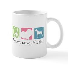 Peace, Love, Vizslas Small Mug