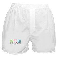 Peace, Love, Vizslas Boxer Shorts