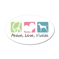 Peace, Love, Vizslas 22x14 Oval Wall Peel