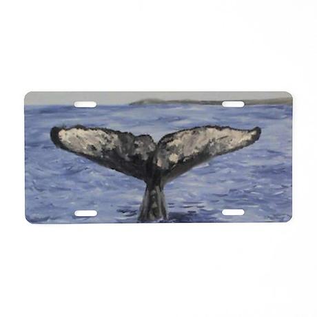 Whale Aluminum License Plate