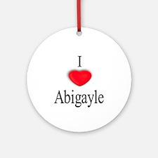 Abigayle Ornament (Round)