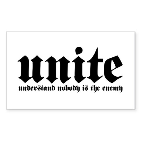U.N.I.T.E. Rectangle Sticker