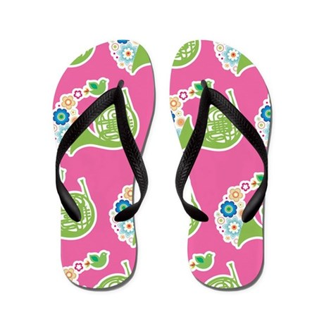 Horn Player Music Flip Flops