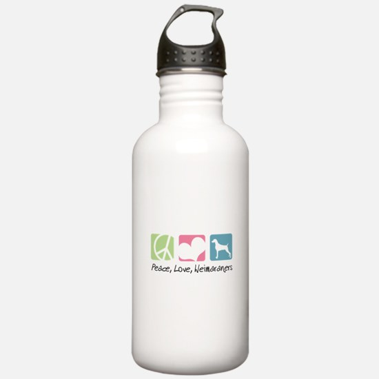 Peace, Love, Weimaraners Water Bottle