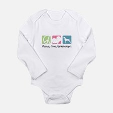 Peace, Love, Weimaraners Long Sleeve Infant Bodysu