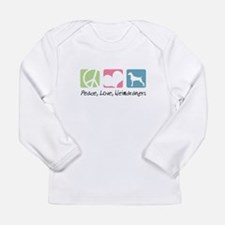 Peace, Love, Weimaraners Long Sleeve Infant T-Shir