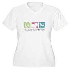 Peace, Love, Weimaraners T-Shirt