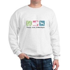 Peace, Love, Weimaraners Sweatshirt