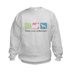 Peace, Love, Weimaraners Sweatshirt