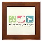 Peace, Love, Weimaraners Framed Tile
