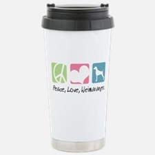 Peace, Love, Weimaraners Travel Mug