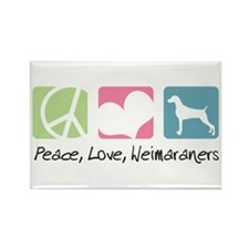 Peace, Love, Weimaraners Rectangle Magnet