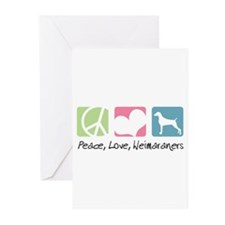 Peace, Love, Weimaraners Greeting Cards (Pk of 10)