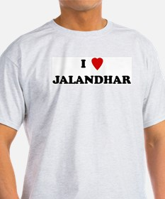 I Love Jalandhar Ash Grey T-Shirt