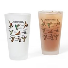 Hummingbirds of North America Drinking Glass