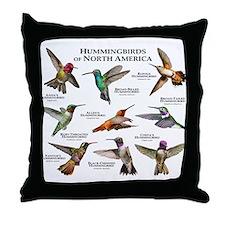Hummingbirds of North America Throw Pillow