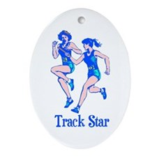 Her Track Star Ceramic Ornament