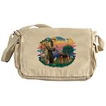 St Francis #2/ Airedale Messenger Bag