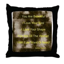 Cute Big beautiful women Throw Pillow
