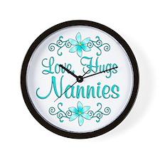 Hugs Nannies Wall Clock