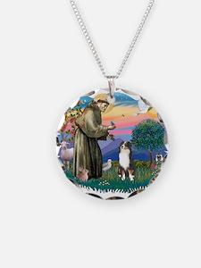 St.Francis #2/ Aus Shep (tri) Necklace