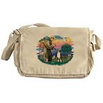 St.Francis #2/ Aus Shep (tri) Messenger Bag