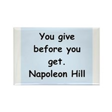 Napolean Hill quotes Rectangle Magnet