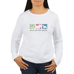 Peace, Love, Welsh Springers T-Shirt