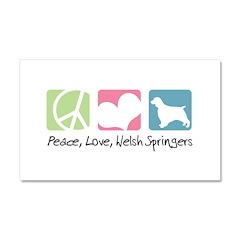Peace, Love, Welsh Springers Car Magnet 20 x 12