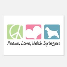 Peace, Love, Welsh Springers Postcards (Package of