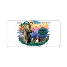 St.Francis #2/ Basset Hound Aluminum License Plate