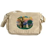 St Francis #2/ Bichon #1 Messenger Bag