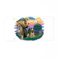 St Francis #2/ Briard (f) Aluminum License Plate
