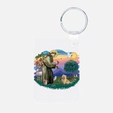 St Francis #2/ Cairn Ter Keychains