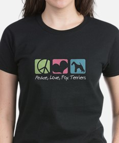 Peace, Love, Fox Terriers Tee