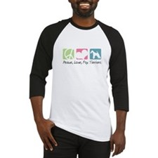 Peace, Love, Fox Terriers Baseball Jersey