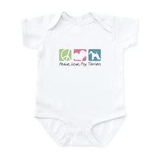 Peace, Love, Fox Terriers Infant Bodysuit