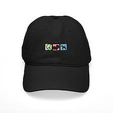 Peace, Love, Fox Terriers Baseball Hat