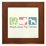 Peace, Love, Fox Terriers Framed Tile