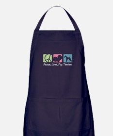 Peace, Love, Fox Terriers Apron (dark)