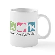 Peace, Love, Fox Terriers Mug