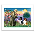 St Francis / Collie Pair Small Poster