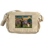 St. Francis & Collie Messenger Bag