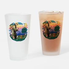 St.Fran #2/ Dachshund (red) Drinking Glass