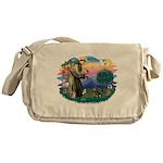 St.Fran #2/ Dachshund (BT) Messenger Bag