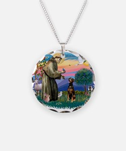 St Francis #2/ Doberman Necklace