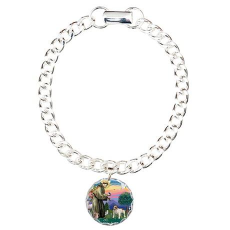 St Francis #2/ Eng Bulldog Charm Bracelet, One Cha